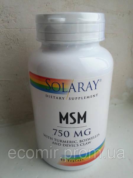 MSM - Органическая сера, Solaray (750 мг / 90 капсул )