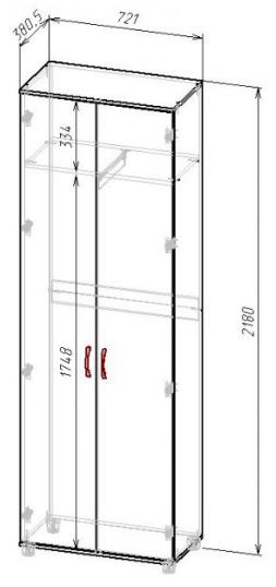 Схема шкафа для одежды В-218