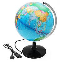 32 см Иллюминационный мир Земной шар Географический земной теллур Глобус Электрический Светодиодный