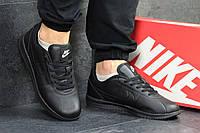 Мужские  кроссовки  Nike (черные),  ТОП-реплика , фото 1