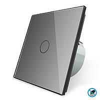 Бесконтактный выключатель Livolo серый стекло (VL-C701PRO-15)
