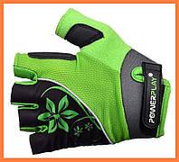 Спортивные перчатки для велосипеда женские Зеленый