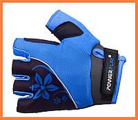 Спортивные перчатки для велосипеда женские Синий