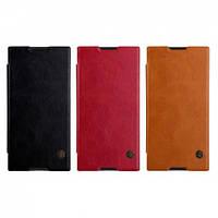 Кожаный чехол (книжка) Nillkin Qin Series для Sony Xperia XA1 Ultra