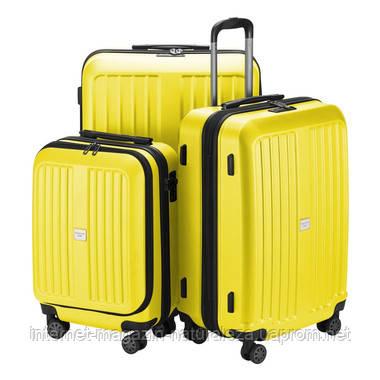 Набір валіз Hauptstadtkoffer Xberg жовтий матовий, фото 2