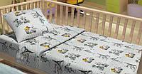 Детское постельное белье для младенцев Lotus фланель CoCo серый в кроватку