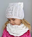 Весняна шапка з вушками Колір Світло-сірий Розмір 50-56, фото 6