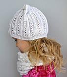 Весняна шапка з вушками Колір Світло-сірий Розмір 50-56, фото 7
