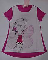 Детска футболка для девочки принт бабочка рост 110 -116,  Венгрия Emma girl, фото 1