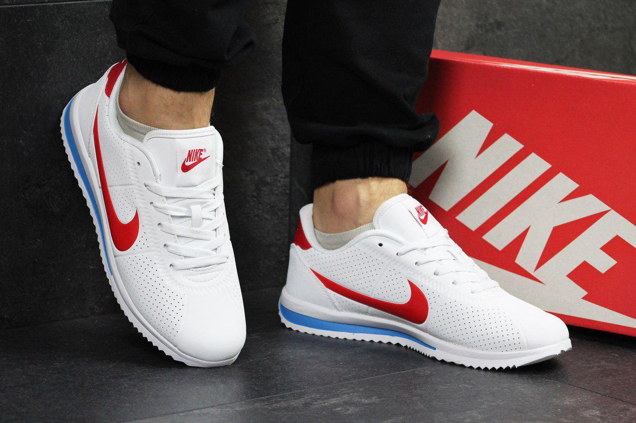 9eafaa89 Мужские кроссовки Nike (белые с красным), ТОП-реплика : продажа ...