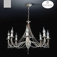 Люстра 8 ламповая для гостиной, зала, большой комнаты с высокими потолками 19622