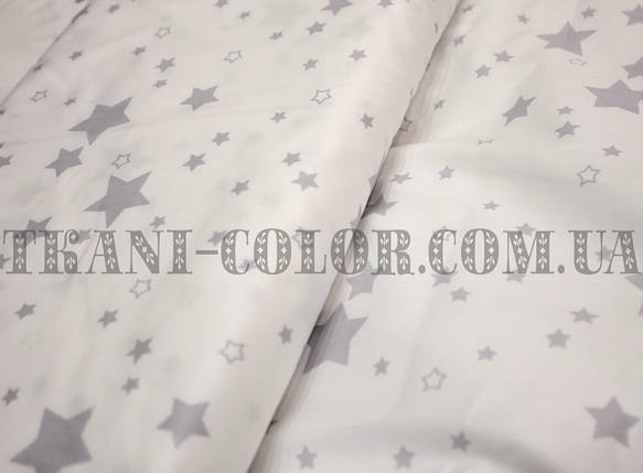 Ткань сатин для постельного и одежды принт звезды, фото 2