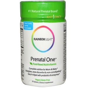 Rainbow Light, Prenatal One, Мультивитамины для беременных и кормящих женщин, 30 таблеток