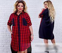 Платье-рубашка, с 48-62 размер, фото 1