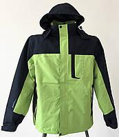 Ветровка мужская, трекинговая, мод FELIX, водонипроницаемая, зеленый/черный цвет