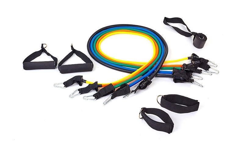 Эспандер  многофункциональный для комплексных тренировок Resistance Band 5 жгутов Разноцветный (FI-6333)