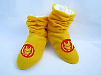 Тапочки  ботинки Железный Человек / домашние тапочки детские