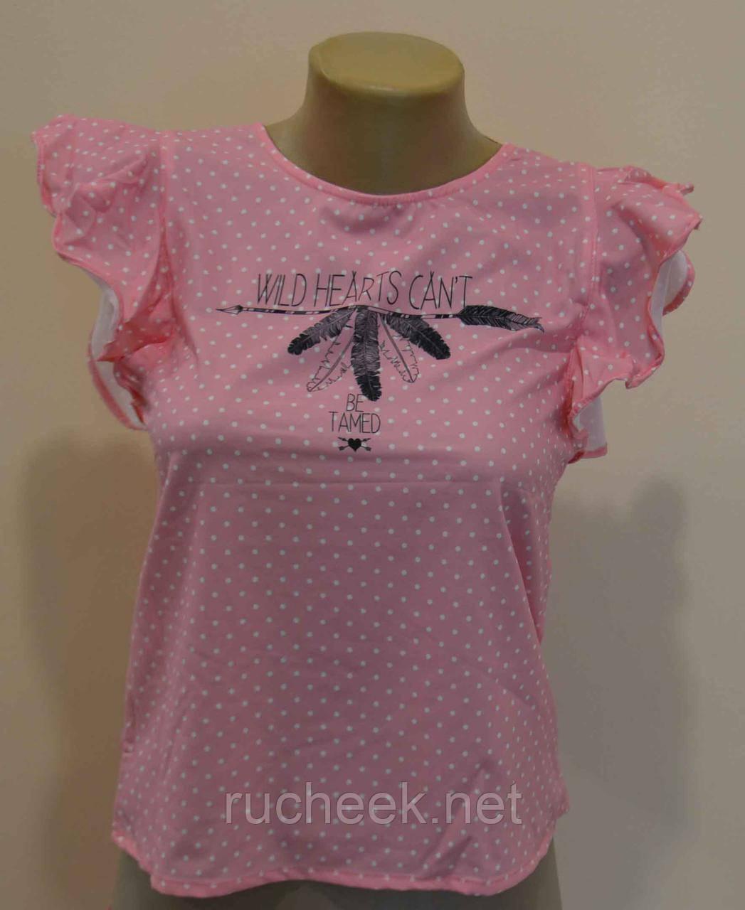 Блузки футболки для девочек рост 122, ТМ Glo-Story GCS-8550