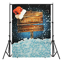 5x7ft Рождество Северный полюс Санта Шапка Тонкий виниловый фотосъемка Фон Студия Фото реквизит