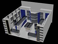 Дизайн магазинов, торговая мебель проект, дизайн-проект магазина