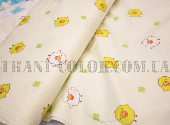 Ткань сатин для постельного и одежды принт птички, фото 2