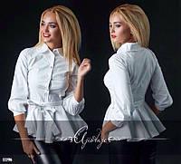 Блуза баска #282 Ткань котон-поплин Цвет белый, черный Размер с-м, м-л