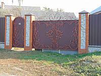 Кованые ворота В-4, фото 1