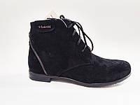 Женские демисезонные черные замшевые стильные ботинки 38 Violetti