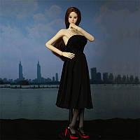Черный Платье с высокими каблуками для 1/6 12inch BJD Кукла Платье Модная одежда DIY Аксессуары Toy