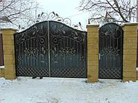 Кованые ворота В-5, фото 1