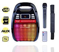 Портативная Колонка Комбик Golon RX 810BT Радиомикрофон Пульт Цветомузыка, фото 1