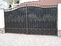 Кованые ворота В-8