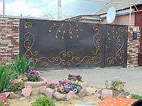 Кованые ворота В-9, фото 1