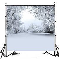 10x10FT Зимний лед Снег Дерево Фотография Виниловый фон Студия фоном