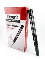 """Маркер лак-краска Paint, черный, толщина письма 1,8-2,2 мм, круглый """"Axent"""" № 2571-21"""