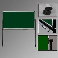 Двухсторонняя мобильная доска для мела/маркера 90х120 см АВС (Чехия) в алюминиевой рамке