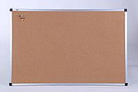 Доска пробковая 90х120 cм АBC (Чехия) в алюминиевой рамке, фото 1