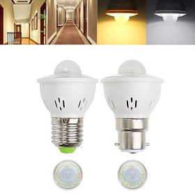 E27 B22 3W Инфракрасное тело человека Датчик Теплый белый Чистый белый Светодиодный Лампа для лестницы AC220V 1TopShop