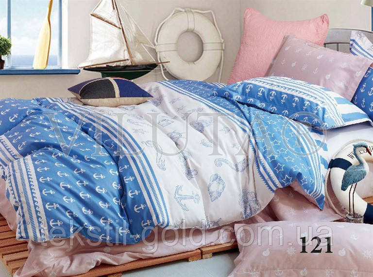 Семейный комплект постельного белья ТМ VILUTA твил-сатин 121