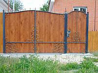 Ворота з профнастилу В-10