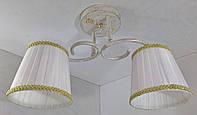 Люстра потолочная на 2 лампочки YR-76320/2-wt-gd