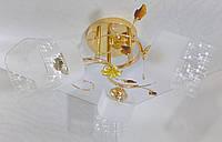 Люстра потолочная на 3 лампочки YR-75766/3-gd