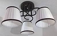 Люстра потолочная на 3 лампочки YR-76320/3-brown