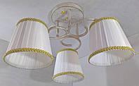Люстра потолочная на 3 лампочки YR-76320/3-wt-gd