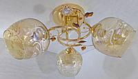Люстра потолочная на 3 лампочки YR-2230/3-gd