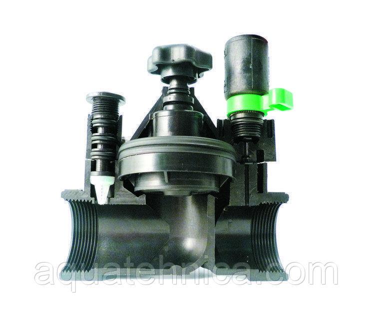 """Электрогидроклапан для автоматического полива Irritrol S - 1*1/2"""" с регулировкой потока"""