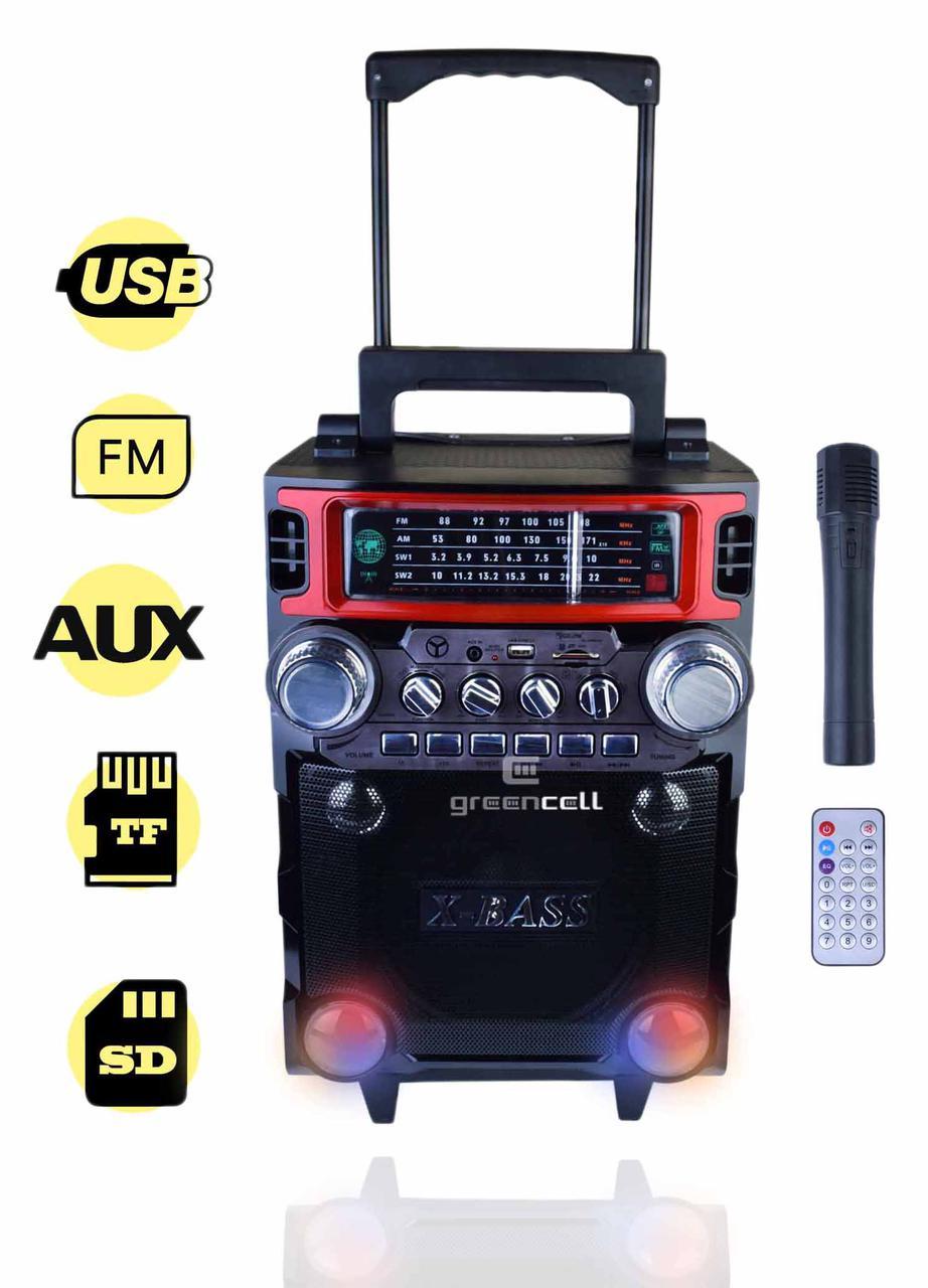 Колонка портативная акустика радиоприемник Golon RX 2088QW Бумбокс Караоке