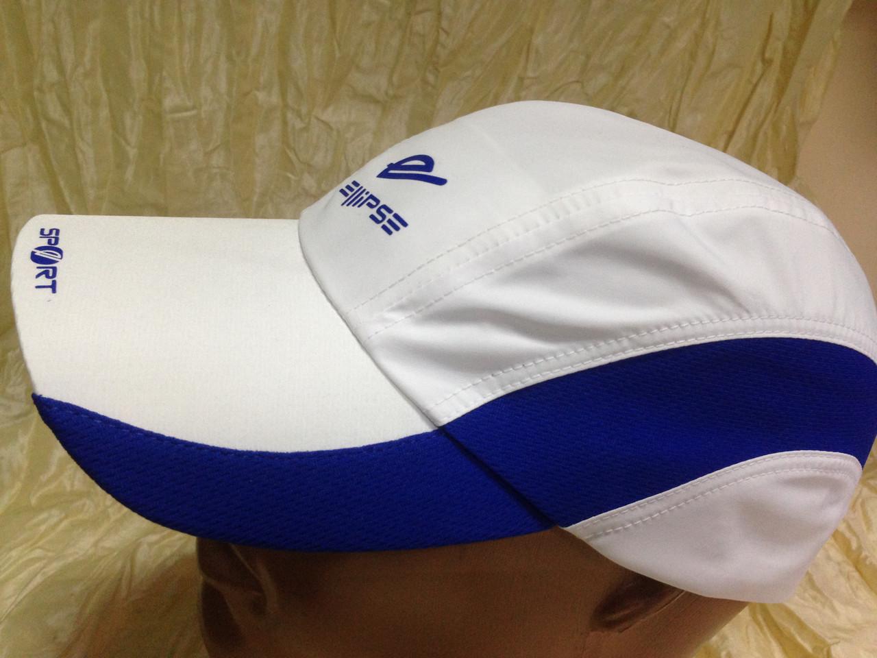 Бейсболка из плащёвки размер 57-59 цвет белый с синим