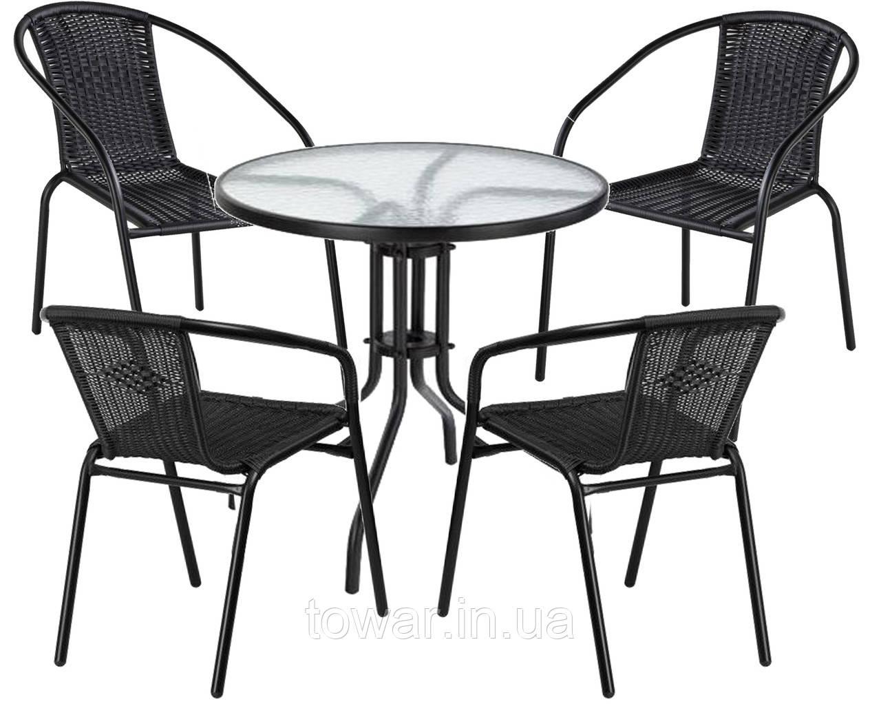 Набор садовой мебели Bistro стол +4 кресла Польша