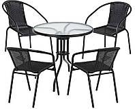 Набор садовой мебели Bistro стол +4 кресла Польша, фото 1